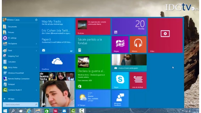 Windows 10 pantalla
